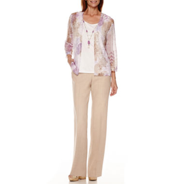 jcpenney.com | Alfred Dunner® Lavender Fields Layered Top or Pull-On Pants