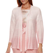 Alfred Dunner® Picture Perfect 3/4-Sleeve Metallic Cardigan