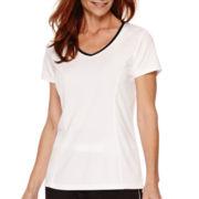 Made for Life™ Short-Sleeve Melange Mesh T-Shirt - Tall