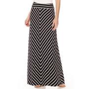 Liz Claiborne® Mitred Stripe Maxi Skirt