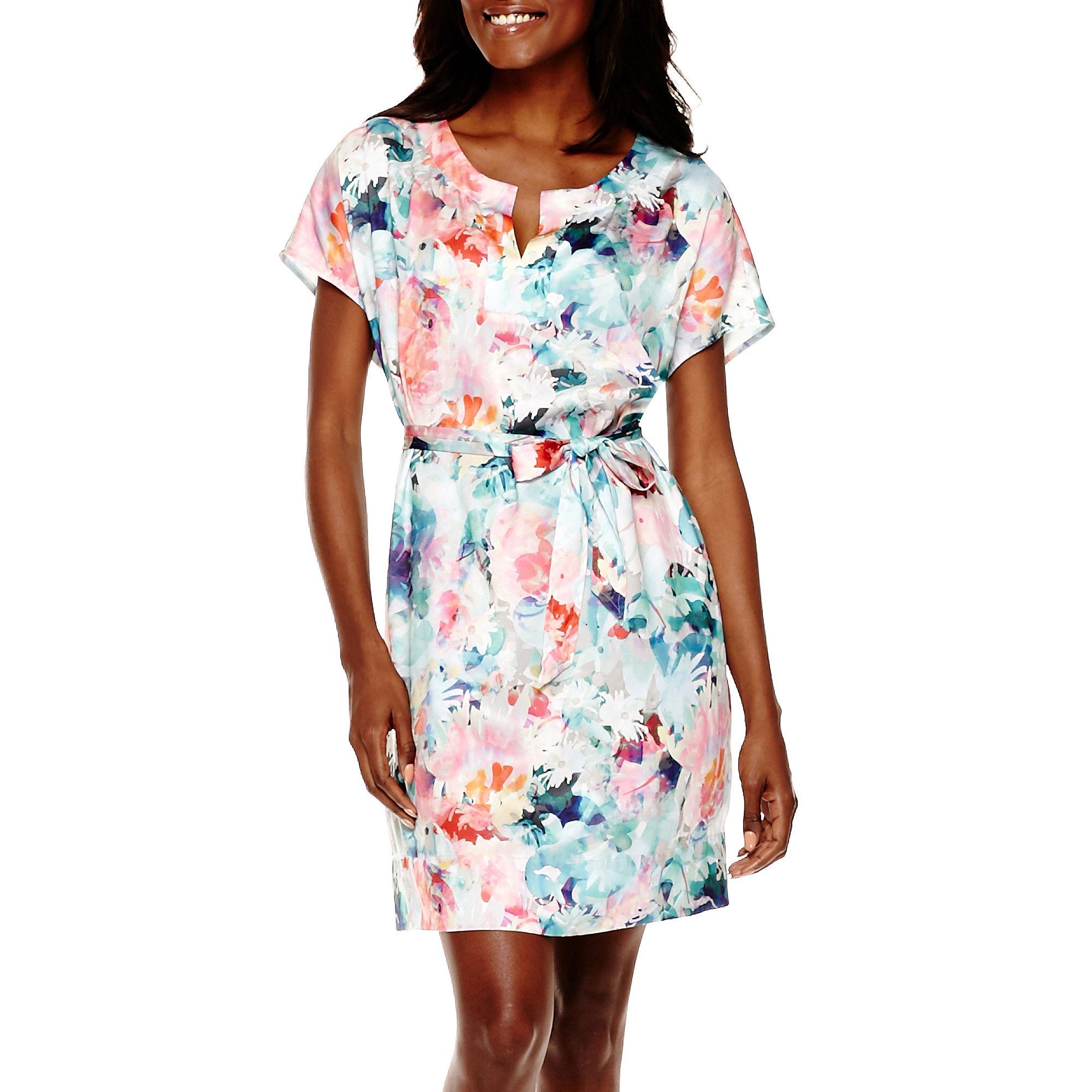 Liz Claiborne Short-Sleeve Caftan Dress - Tall plus size,  plus size fashion plus size appare