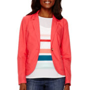 Liz Claiborne® Long-Sleeve Teaberry Blazer - Tall