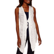 Liz Claiborne® Sleeveless Knit Cardigan - Tall