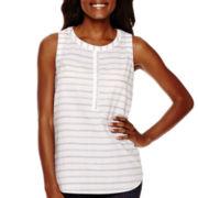 Liz Claiborne® Stripe Tank Top - Tall