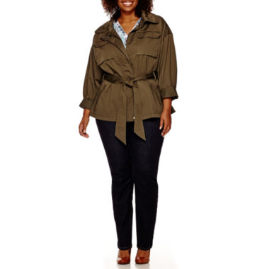 jcpenney.com | a.n.a® Cargo Anorak Jacket, V-Neck Blouse or Core Skinny Denim Pants - Plus