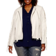 a.n.a® Long-Sleeve Fringe Jacket - Plus