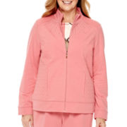 Alfred Dunner® Lake Zurich Long-Sleeve French Terry Jacket