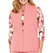 Alfred Dunner® Lake Zurich Sleeveless French Terry Vest