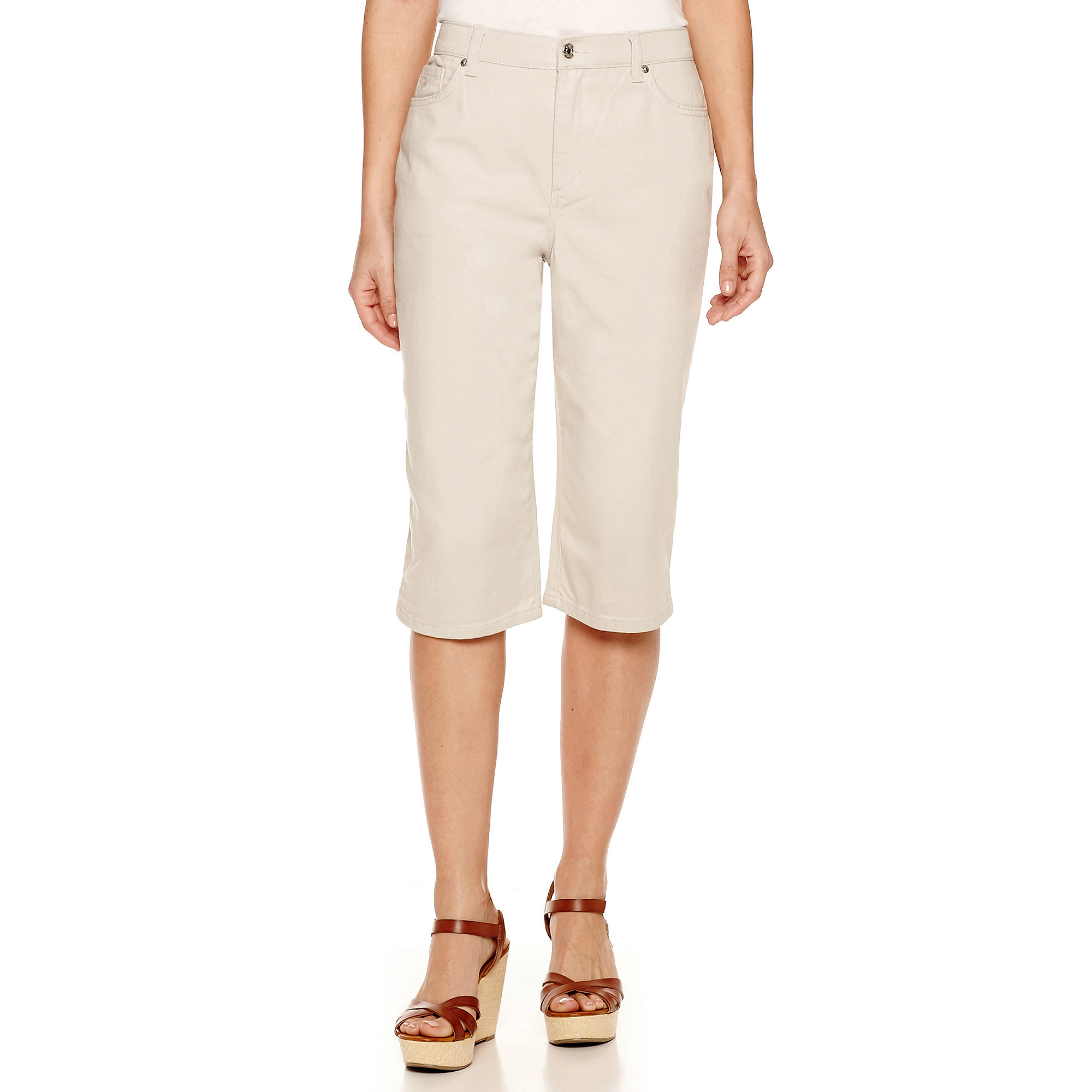 Gloria Vanderbilt Amanda Skimmer Capris plus size,  plus size fashion plus size appare