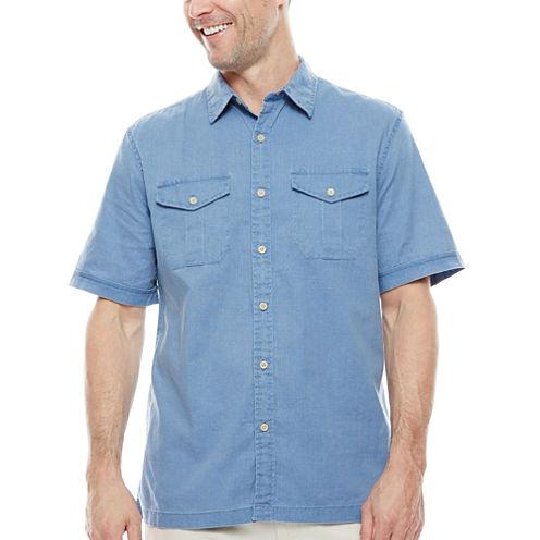 St. John's Bay® Short-Sleeve Crosshatch Shirt