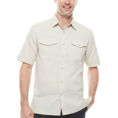 jcpenney.com | St. John's Bay® Short-Sleeve Crosshatch Shirt