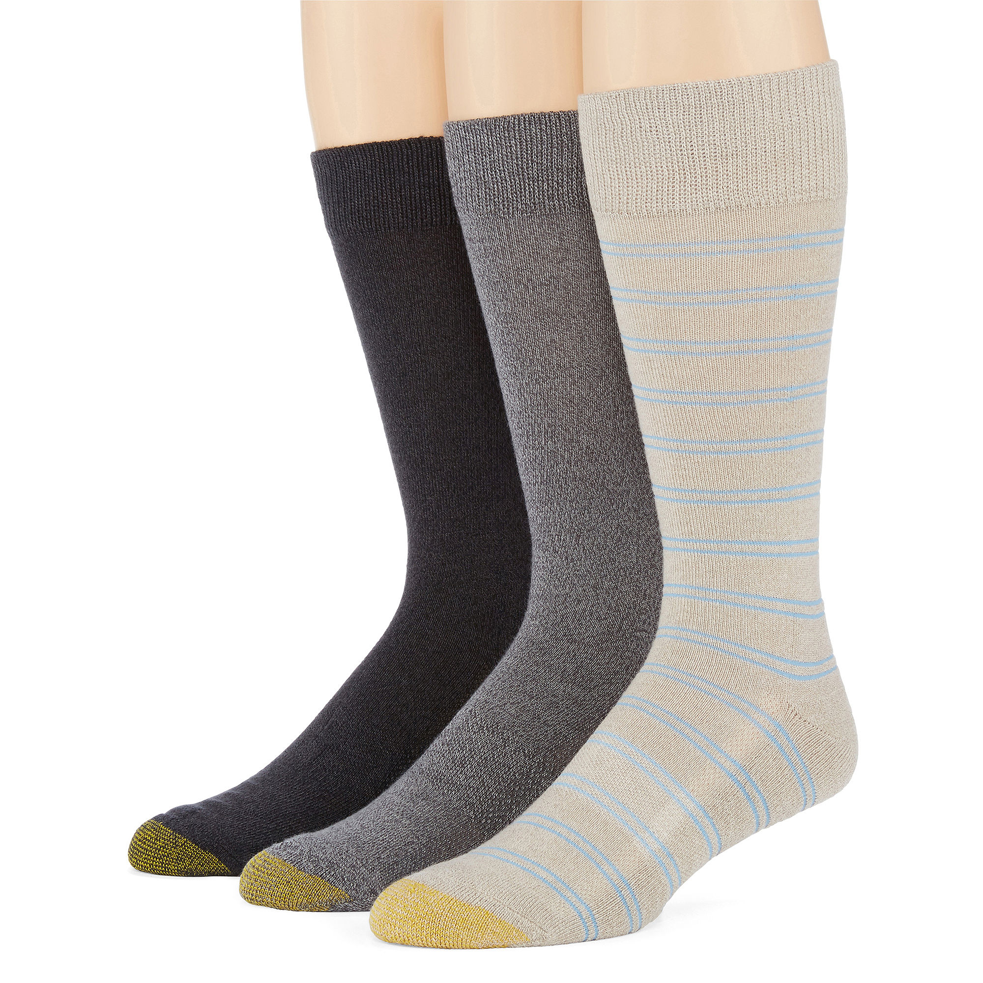 Gold Toe Mens 3-pk. ProTEC Performance Crew Socks