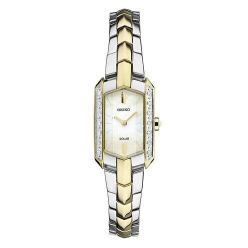 Seiko Tressia Womens Two Tone Bracelet Watch-Sup358