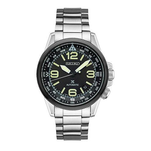Seiko Prospex Mens Silver Tone Bracelet Watch-Srpa71