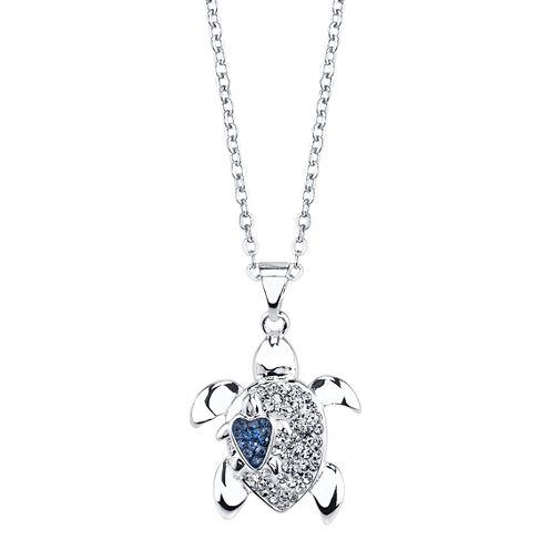 Sparkle Allure Womens Multi Color Crystal Brass Pendant Necklace