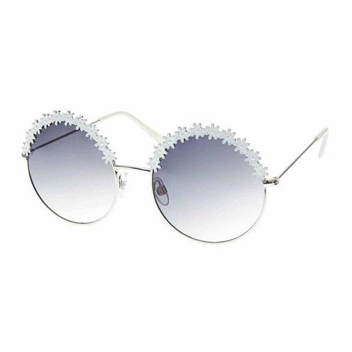 Arizona Half Frame Round UV Protection Sunglasses