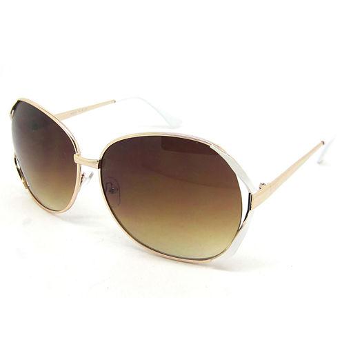 Fantas Eyes Oversized Round UV Protection Sunglasses