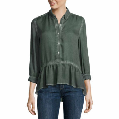 jcpenney.com | a.n.a 3/4 Sleeve Rayon Blouse-Talls