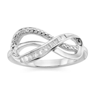 jcpenney.com | Infinite Promise Womens 1/10 CT. T.W. White Diamond Sterling Silver Cocktail Ring