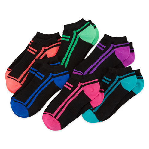 Xersion Girls 6 Pair No Show Socks-Big Kid