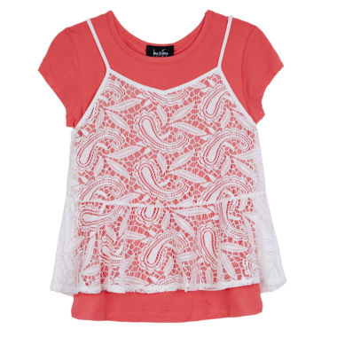 jcpenney.com | by&by girl Short Sleeve Flutter Sleeve Blouse - Big Kid Girls