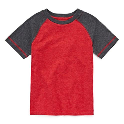 Arizona Boys Solid Raglan T-Shirt - Preschool 4-7