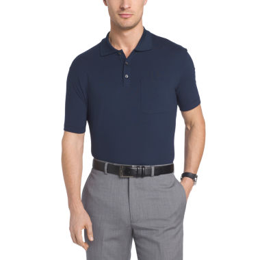 jcpenney.com | Van Heusen Short Sleeve Flex Stretch Solid Polo