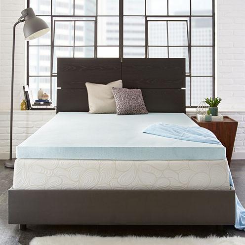 """PuraSleep 3"""" OptiPlush Cool Comfort Memory Foam Mattress Topper"""