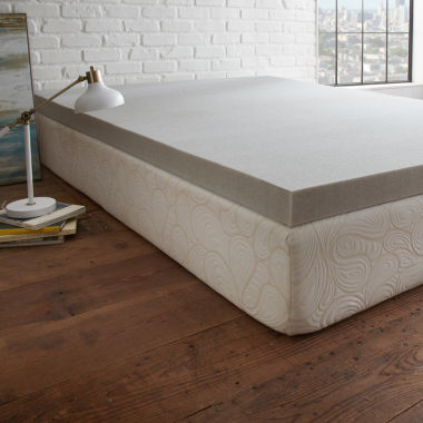 "jcpenney.com | PuraSleep 3"" Carbon Tech Gel Cooled Memory Foam Mattress Topper"