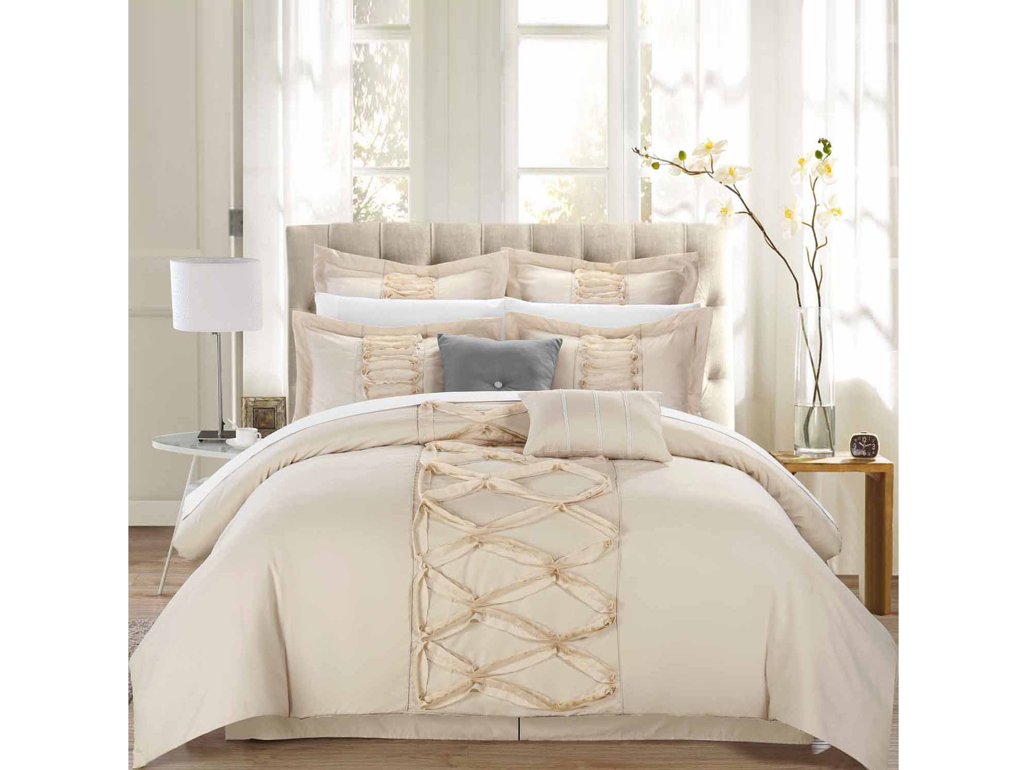 Chic Home Ruth 12 - pc. Complete Bedding Set With Sheets