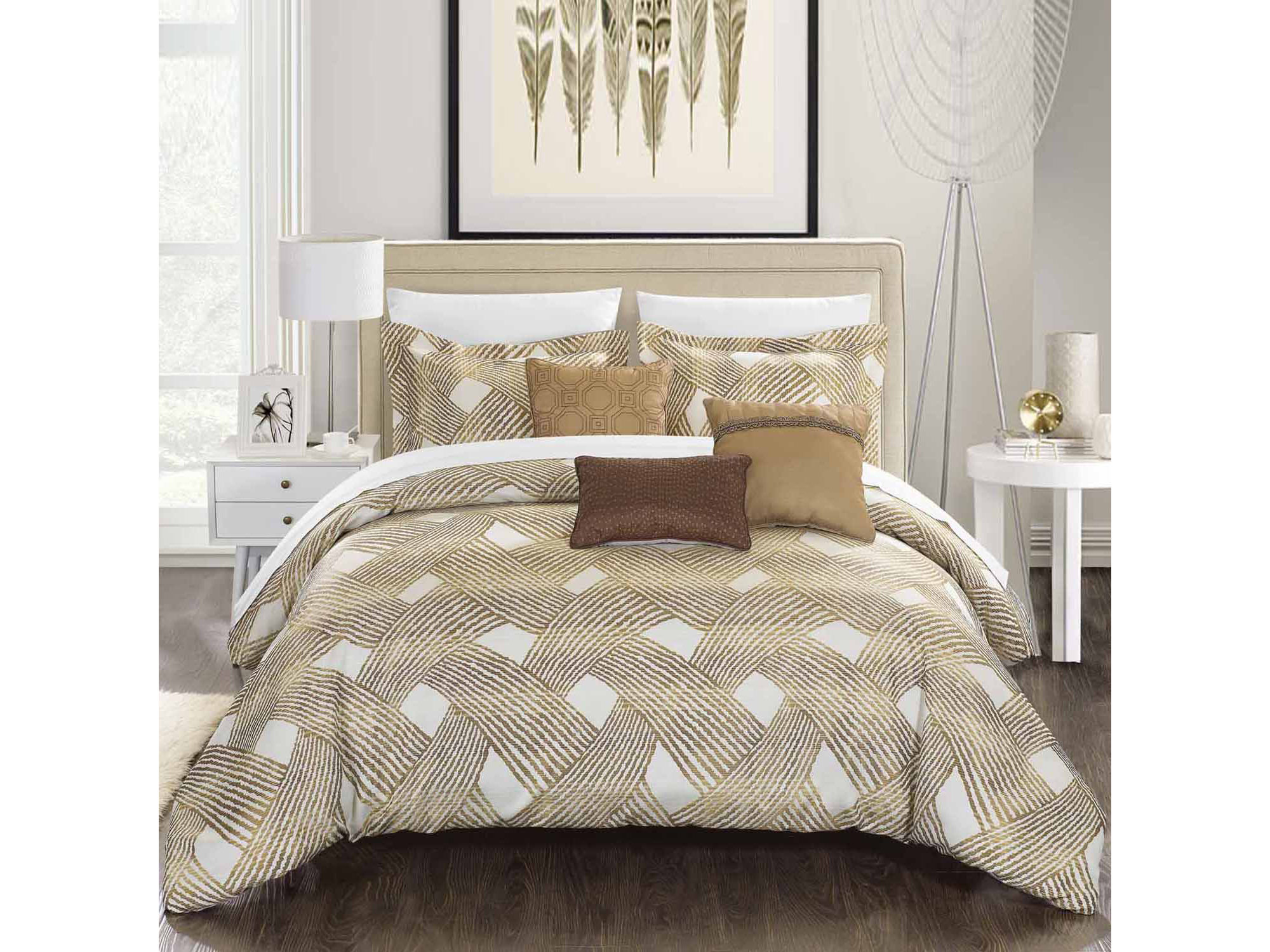 Chic Home Fiorella 10 - pc. Complete Bedding Set With Sheets
