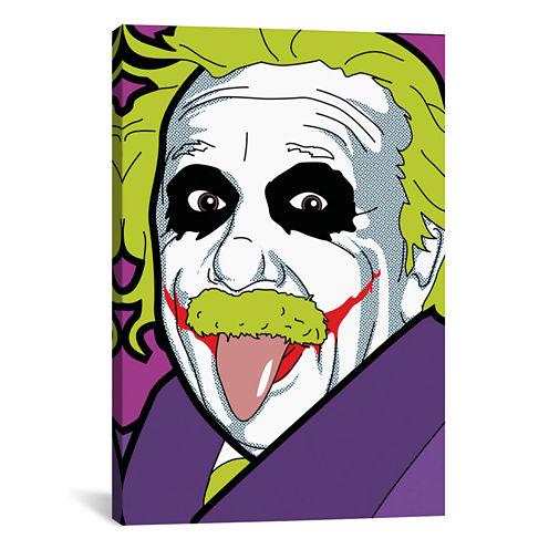 Icanvas Albert E. As The Joker Canvas Art