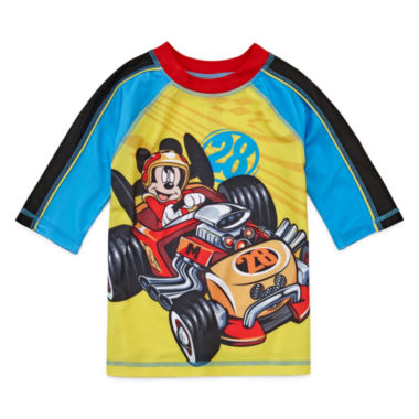 jcpenney.com | Disney Boys Mickey Mouse Solid Rash Guard-Big Kid