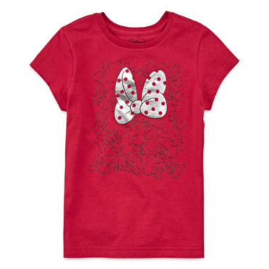 jcpenney.com | Disney Short Sleeve Minnie Mouse T-Shirt-Big Kid Girls