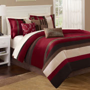 Red Boulder Stripe 7-pc. Comforter Set