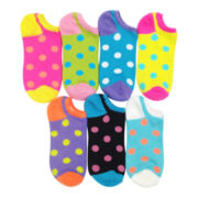 7-pk. Polka Dot No-Show Socks