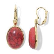 Monet® Gold-Tone Orange Lever Drop Earrings