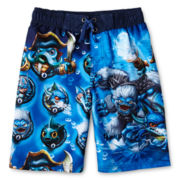 Skylanders Print Swim Trunks - Boys 6-10