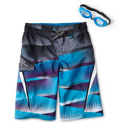 Zero Xposur® Imperial Plaid Swim Trunks - Boys 6-18