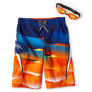Zero Xposur® Zinnia Plaid Swim Trunks - Boys 6-18