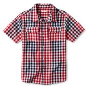 Joe Fresh™ Red Short-Sleeve Woven Shirt - Boys 4-14