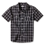 Joe Fresh™ Black Short-Sleeve Woven Shirt - Boys 4-14