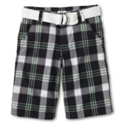 Joe Fresh™ Charcoal Plaid Shorts - Boys 4-14