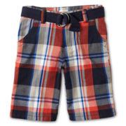 Joe Fresh™ Orange Plaid Shorts - Boys 4-14