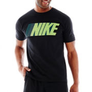 Nike® Striped Graphic Tee