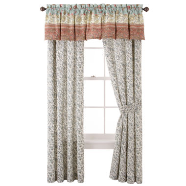 jcpenney.com | Home Expressions™ Jacobean Stripe 2-Pack Curtain Panels