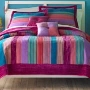 Seventeen® Dazzle Me Striped Quilt and Accessories