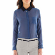 MNG by Mango® Long-Sleeve Contrast-Collar Shirt