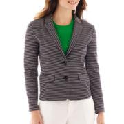 Liz Claiborne® Striped Ponte Knit Blazer