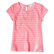 Arizona Sparkle Striped Tee – Girls 6-16 and Plus
